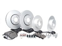 ES#257354 - 1J0698001 - Front & Rear Brake Service Kit - Featuring Meyle rotors and Vaico pads - Assembled By ECS - Volkswagen