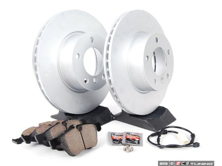 ES#2649779 - 34116854998SRVKT - Front Brake Service Kit - Featuring Zimmermann rotors and Akebono euro ceramic pads - Assembled By ECS - BMW
