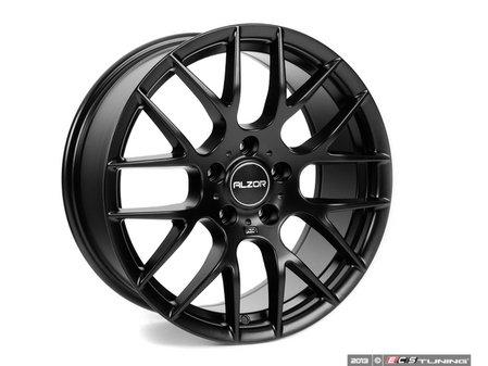 "ES#2713038 - 030-9 - 18"" Style 030 Wheels - Set Of Four - 18""x8"" ET35 5x112 - Matte Black - Alzor - Audi Volkswagen"