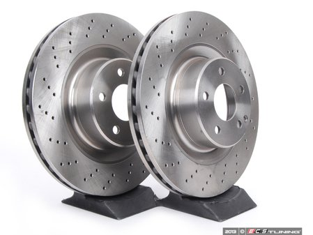 ES#2576017 - 2204211112KT4 -           Front Brake Rotors - Pair - Does not include new rotor securing screws - Brembo - Mercedes Benz