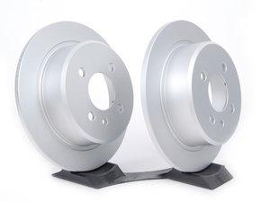 "ES#11712 - 40406147kt - Rear Brake Rotors - Pair (258x10) - Featuring Meyle's ""PLATINUM"" protective coating.  - Meyle - BMW"