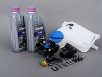 ES#2608082 - 06B121111KKT2 - Cooling System Refresh Kit - Level 2 - Replace your thermostat, temp sensors, coolant flange, and expansion tank with one kit! - Assembled By ECS - Audi