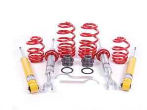 "ES#2019 - 29250-1 - Street Performance Coilover Kit - Unrivaled comfort and performance. Average lowering of 1.2""-2.1""F 1.0""-2.0""R - H&R - Audi"