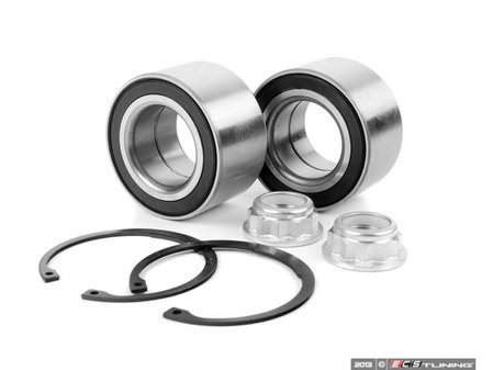 ES#2594654 - 1J0498625KT - Front Wheel Bearing Kit - Includes both front wheel bearings with installation hardware - Assembled By ECS - Audi Volkswagen