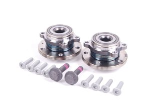 ES#2588448 - 5K0498621KT - Wheel Bearing & Hub Assembly Kit - Includes both wheel bearing/hub assemblies with hardware - Genuine Volkswagen Audi - Audi Volkswagen