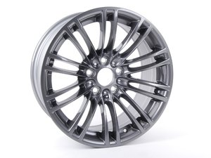 "ES#63908 - 36102283550 - 18"" M Double Spoke Style 219 Wheel - Priced Each - 18x8.5 ET29 72.6mm CB GunMetal - Genuine BMW - BMW"