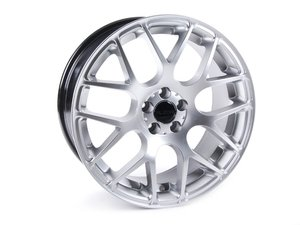 """ES#2645444 - 349A-7 - 17"""" Style 349 - Hyper Silver - Priced Each (Only 1 Available) - 17x7.5, ET45, 5x112, 66.6CB - Alzor - Audi Volkswagen MINI"""