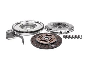 ES#263786 - 52405615 - Clutch Kit With Single Mass Flywheel 52405615 - Includes clutch disc, pressure plate, solid flywheel, throwout bearing and hardware - Valeo - Audi Volkswagen