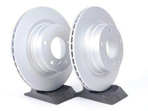 ES#2135700 - 34216855007KT2 - Rear Brake Rotors - Pair (300x20) - Featuring a protective Meyle Platinum coating. - Meyle - BMW