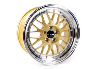 """ES#2731930 - 881-19kt - 18"""" Style 881 Wheels - Set Of Four - (NO LONGER AVAILABLE) - 18""""x9.5"""" ET35 5x100 - Gold with 2.75"""" machined lip - Alzor -"""