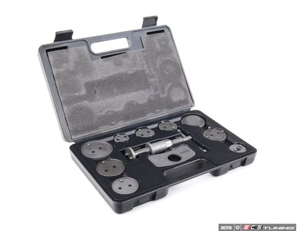 ES#9747 - PBK-11PCS - Brake Caliper Piston Tool Kit - 11 Pieces - Used for retracting caliper pistons when installing new brake pads. - Schwaben - Audi BMW Volkswagen MINI
