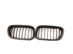 ES#518036 - BM01-5301-B - ECS Kidney Grille Set - Matte Black - Add style and individuality to your BMW in minutes! - ECS - BMW