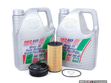 ES#2707968 - 079198405KT2 - Oil Service Kit - With Billet Aluminum Filter Cap - Includes Pentosin High Performance II, oil filter kit, and aluminum oil filter housing - Assembled By ECS - Audi