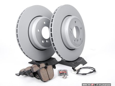 ES#2677958 - 34216763827KT - Rear Brake Service Kit - Featuring Zimmerman rotors and Akebono pads - Assembled By ECS - BMW