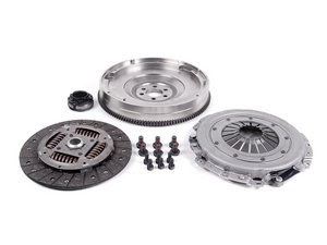 ES#251027 - 52285615 -  Clutch Kit With Single Mass Flywheel - Includes the clutch disc, pressure plate, flywheel, throwout bearing, and hardware - Valeo - Audi Volkswagen