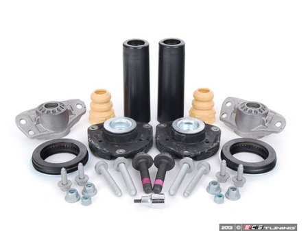 ES#2592477 - 3C0513353CKT1 - ECS Cup Kit/Coilover Installation Kit - Stage 2 - Everything you need for a four corners suspension install - Assembled By ECS - Volkswagen