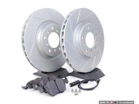 ES#259208 - E46EFBK-hps - Performance Front Brake Service Kit - Featuring ECS GEOMET slotted rotors and Hawk HPS pads - Assembled By ECS - BMW