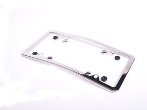 ES#1829266 - Q6880103 - Curved Slimline Front License Plate Frame - Polished Stainless Steel - Genuine Mercedes Benz - Mercedes Benz