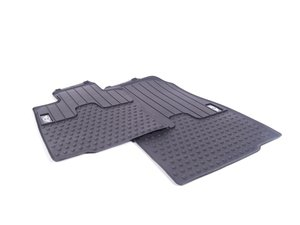ES#2523825 - 51472243918 - MINI Emblem Logo Front Rubber Factory Floor Mats Set - Priced As Set - Replace or upgrade to factory MINI mats - Genuine MINI - MINI