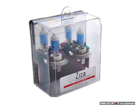 ES#11130 - ZZH7BSPLWA -  Platinum White H7 Halogen Bulb - Pair - Comparable to 7500k HID color for increased intensity & visual appeal - ZiZa - Audi BMW Volkswagen Mercedes Benz MINI Porsche