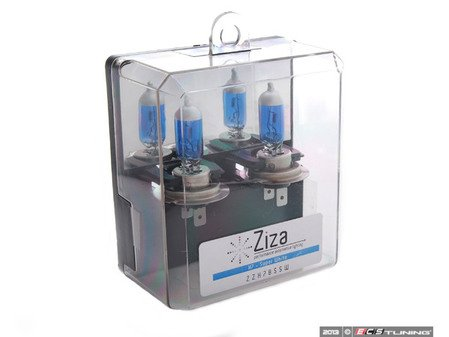 ES#11129 - ZZH7BSSWA -  Super White H7 Halogen Bulb - Pair - Comparable to 6000k HID color for increased intensity & visual appeal - ZiZa - Audi BMW Volkswagen Mercedes Benz MINI Porsche