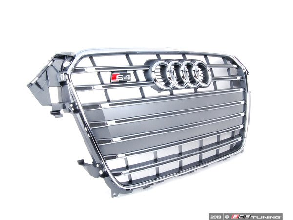 ES#2541016 - 8K0853651P1RR - S4 Grille Assembly - Platinum Grey With Chrome Trim - Clean up or change your look - Genuine Volkswagen Audi - Audi