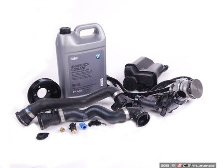 ES#2635505 - 11517527910KT6 - ECS Cooling System Refresh Kit - Level 2 - Stop your cooling problems before they start - featuring a GEBA water pump with a metal impeller, water pump pulley and accessory belts - Assembled By ECS - BMW