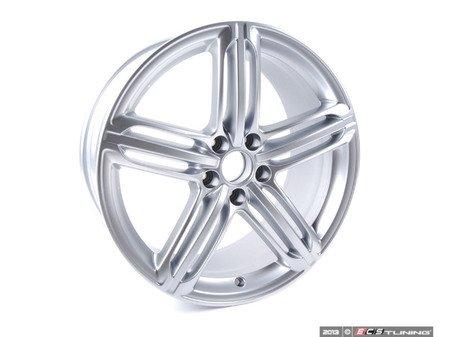 "ES#2600557 - 8K0601025CM - 19"" Tri-Split 5-Spoke Wheel - Priced Each - 19""x8.5"" ET43 5x112 Silver - Genuine Volkswagen Audi - Audi"