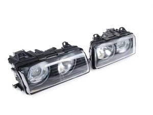 European Projector Headlight Set - Smooth Glass