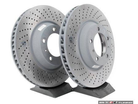 """ES#2515719 - 99735140501KT - Front Brake Rotors - Pair 13.77"""" (350mm) - Directional front axle fitment - Both left and right - Genuine Porsche - Porsche"""