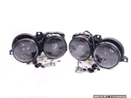 ES#2710776 - HLB3e30Echsmk -  Euro Smiley Smoked Crosshair Projector Headlight Set - Add a little euro style to you lights - Depo - BMW