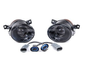 ES#7361 - 1k0998000 - Projector Fog Light Conversion Kit - Convert your standard fogs to Genuine projector fogs, easy plug-n-play kit with H11 bulbs included - Assembled By ECS - Volkswagen