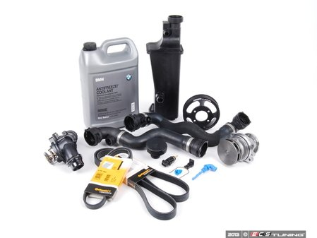 ES#2528696 - 17117573751LV2A - ECS Cooling Maintenance Kit - Level 2 - A more advanced cooling refresh kit - with aftermarket components, including an ECS Aluminum water pump pulley and featuring a GEBA water pump with a metal impeller - Assembled By ECS - BMW