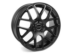 "ES#2739385 - 349A-15kt - 18"" Style 349 Wheels - Set Of Four - 18""x9"" ET35 5x112 - Matte Black - Alzor - Audi Volkswagen"