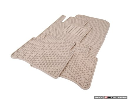 ES#1827976 - Q6680669 - All-Season Floor Mats - Set Of Four - Beige - Genuine Mercedes Benz - Mercedes Benz
