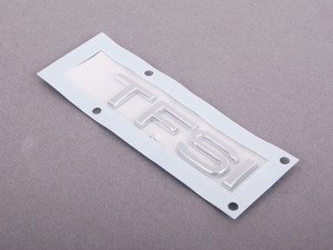 ES#1904781 - 8X0853737A2ZZ - 'TFSI' Emblem - Chrome - Replace your worn or missing emblem  - Genuine Volkswagen Audi - Audi