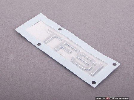 ES#1904781 - 8X0853737A2ZZ - 'TFSI' Emblem - Chrome - Replace your worn or missing emblem  - Genuine Volkswagen Audi - Audi
