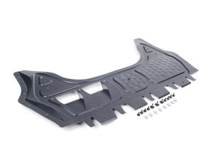 ES#2703308 - 1K0825235AEKT1 - Front Belly Pan Kit - Includes a new belly pan with installation hardware - Genuine Volkswagen Audi - Audi Volkswagen