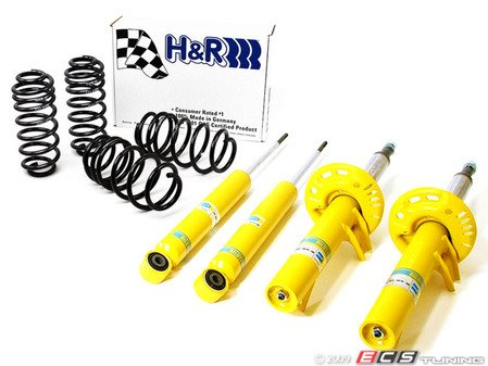"""ES#11410 - 29261-2bsc - Sport Cup Kit - H&R Springs With Bilstein Shocks & Struts - Average lowering of 1.3""""F 1.3""""R - Assembled By ECS - Audi"""