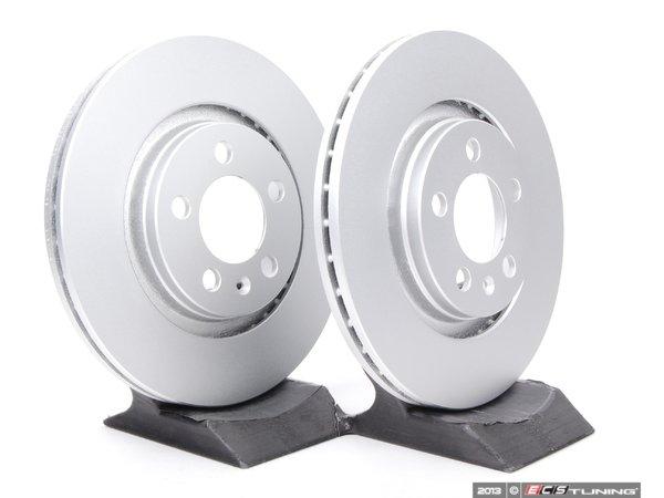 ES#11728 - 1J0615301MKT3 - Front Brake Rotors - Pair (280x22) - Featuring a protective Meyle Platinum coating. - Meyle - Volkswagen