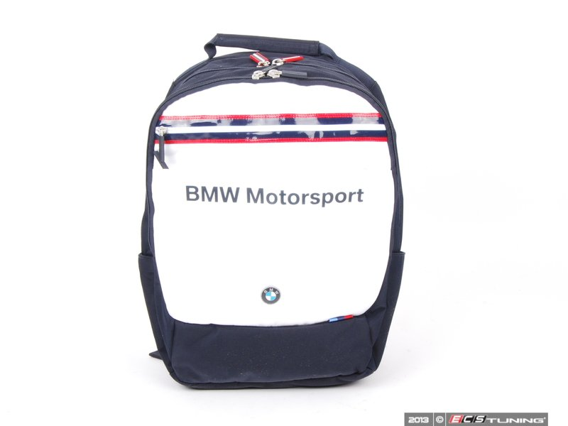 genuine bmw 80222318275 bmw motorsport backpack dark. Black Bedroom Furniture Sets. Home Design Ideas