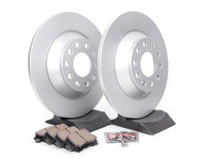 ES#2681194 - 4F0615601EKT6 - Rear Brake Service Kit - Featuring Meyle rotors and Akebono ceramic pads - Assembled By ECS - Audi