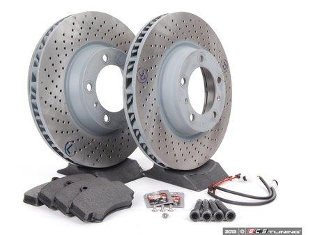 ES#2598602 - 99635140904FOKT1 - Front Brake Service Kit - Featuring Sebro rotors and Textar brake pads - Assembled By ECS - Porsche