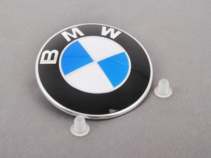 ES#2220936 - 51148132375 - BMW Emblem / Roundel - With Grommets - Tired of looking at your faded BMW Badge? Replace it with the Genuine OEM Roundel - Genuine BMW - BMW