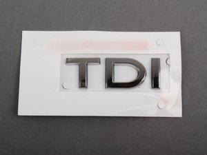 """ES#1120108 - 3C0853675ADL85 - """"TDI"""" Emblem - Dark Chrome stick on emblem - Genuine European Volkswagen Audi - Volkswagen"""