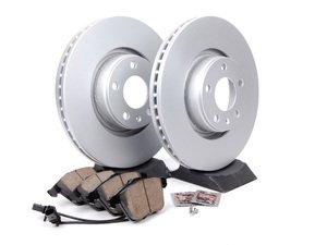 ES#2681189 - 4F0615301EKT6 - Front Brake Service Kit - Featuring Meyle rotors and Akebono pads - Assembled By ECS - Audi