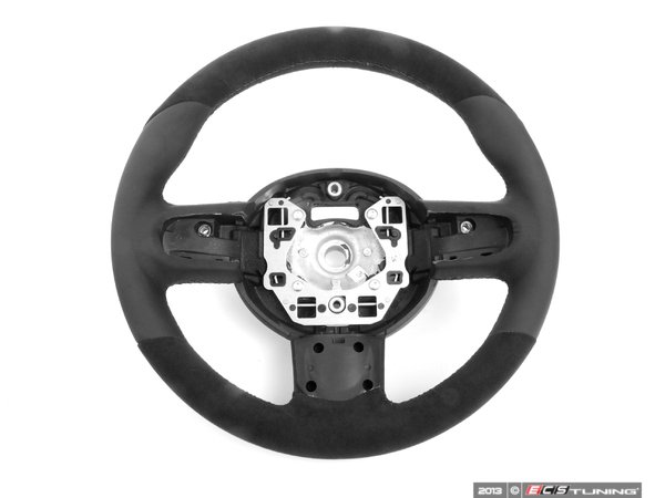 ES#52299 - 32300416251 - JCW Leather / Alcantara Steering Wheel - Upgrade to the JCW thicker wheel  - Genuine Mini - MINI