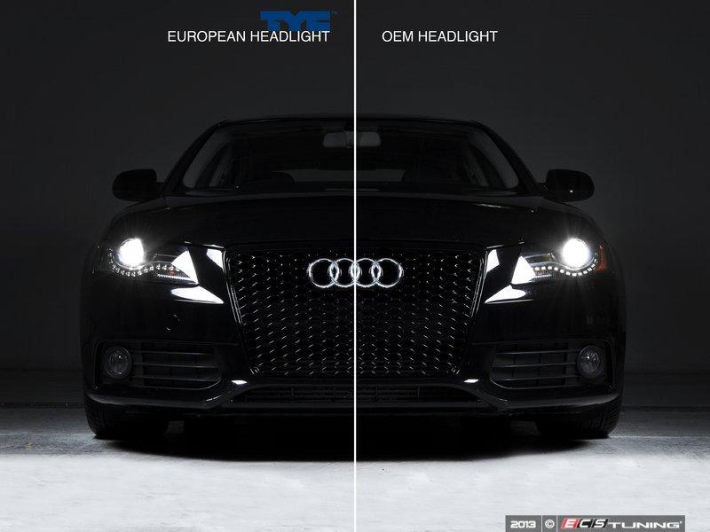 ecs news tyc euro xenon headlight set for audi b8 a4 s4. Black Bedroom Furniture Sets. Home Design Ideas