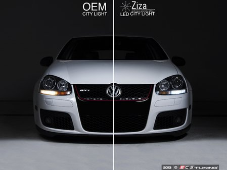 ES#251205 - zzamk5clk-3 - City Light High Intensity LED Kit - Amazing upgrade for your city light on your MK5, MK6 or B6. Go from yellow to HID-colored white in minutes! - ZiZa - Volkswagen