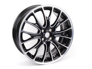 "ES#250390 - 36116784136 - R113 JCW LM Rad Cross Spoke Wheel 18"" (4x100) Gloss Turned Black - Priced Each - 18 x 7J ET:52 - Genuine MINI - MINI"